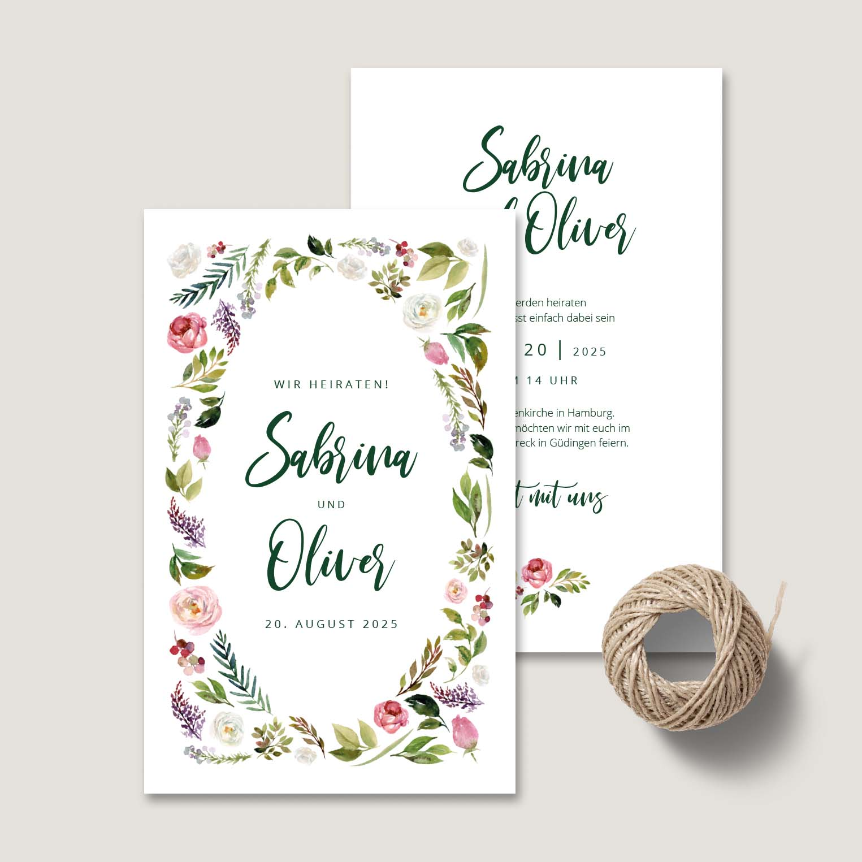 Einladung Hochzeit Landhochzeit