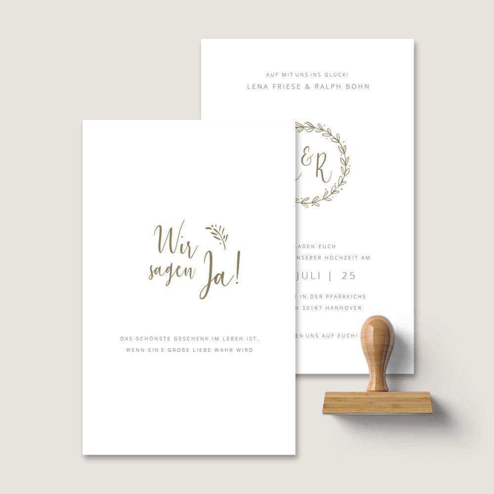 Einladung Hochzeit Stempel