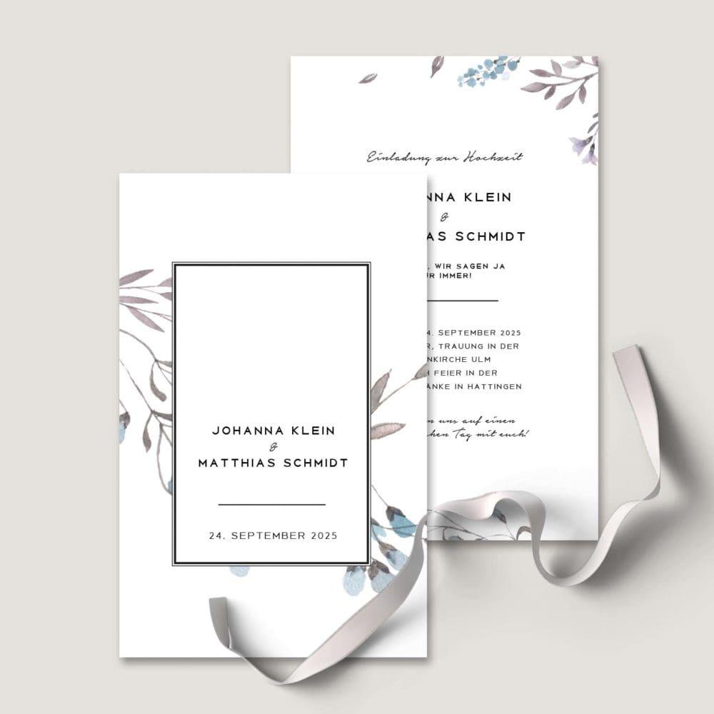 Einladung Hochzeit modern