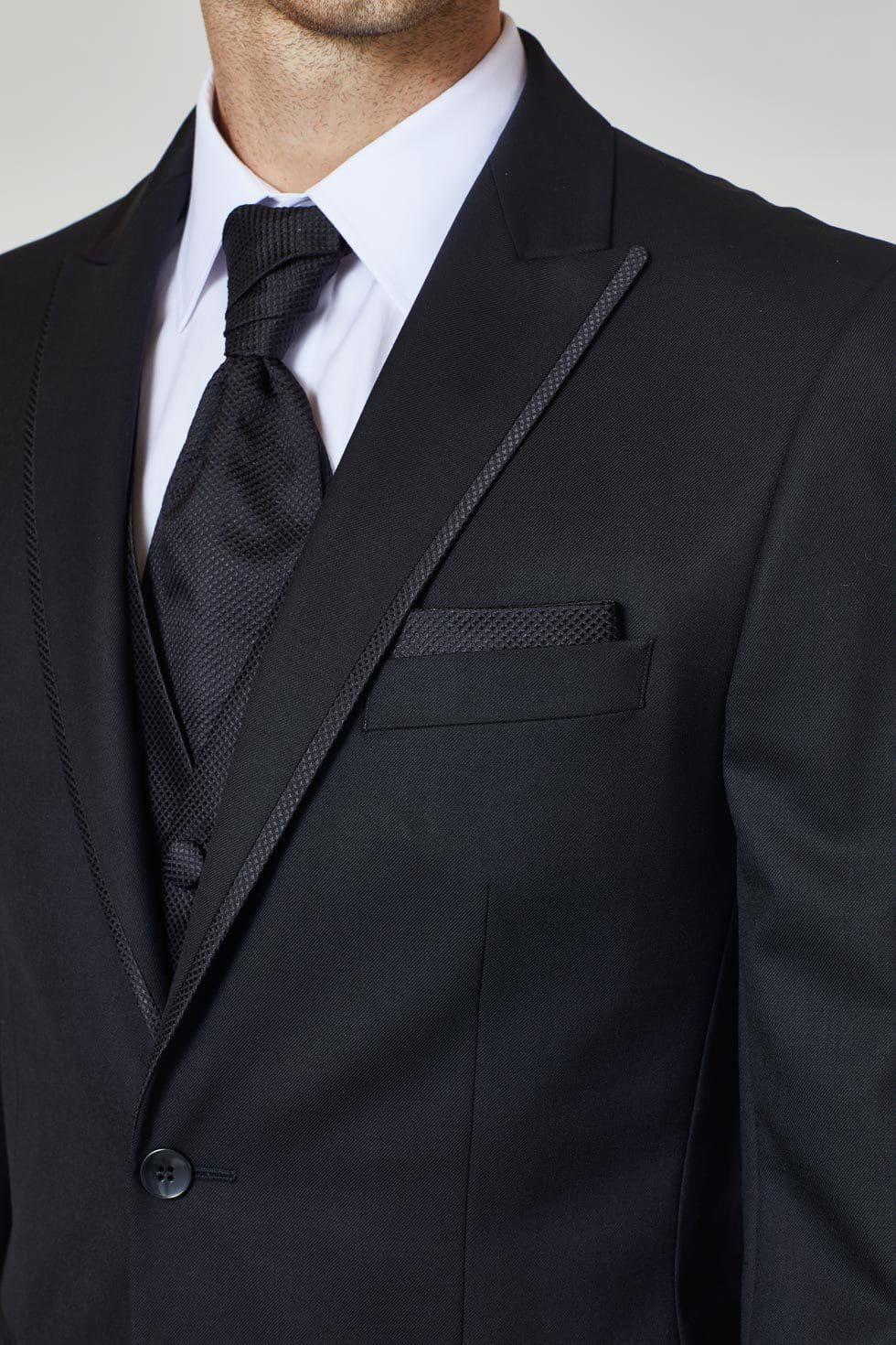 Hochzeitskrawatte Schwarz