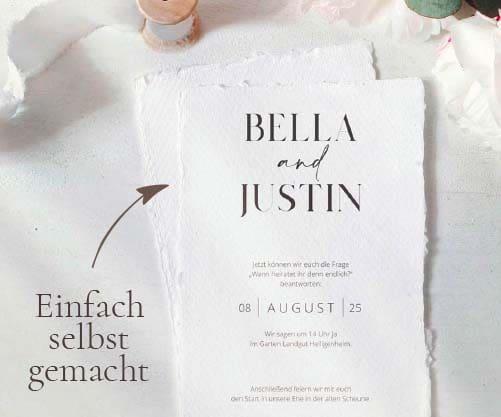 Einladung Hochzeit selber gestalten