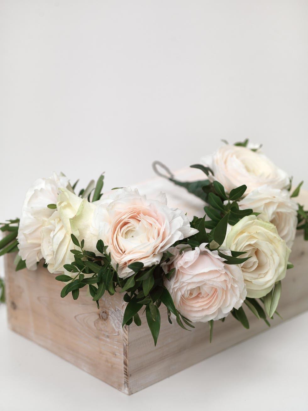 Kranz binden Hochzeit