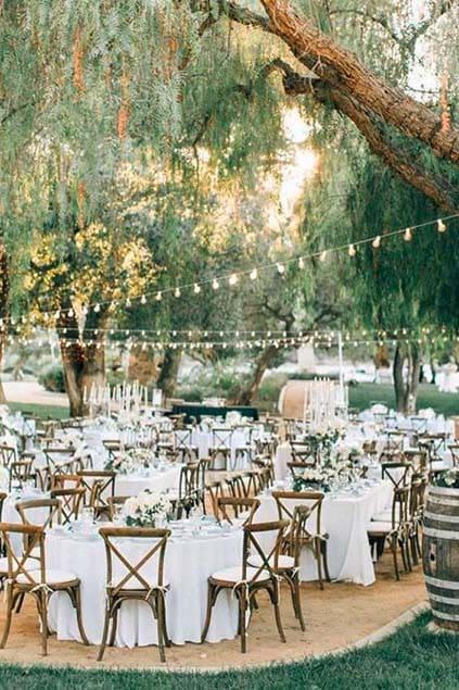 Hochzeit See Wiese