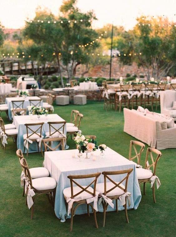 Elegante Hochzeit Wiese