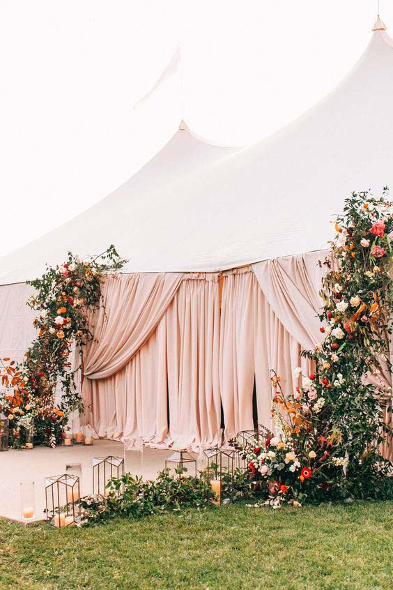 Sailcloth Zelt Hochzeit