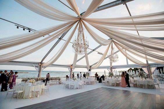 Transparentes Zelt Hochzeit
