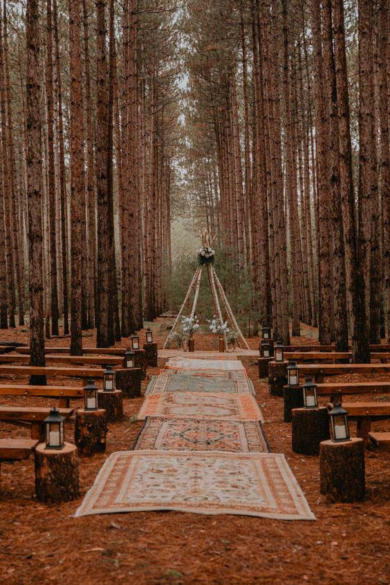 Trauung Boho Wald