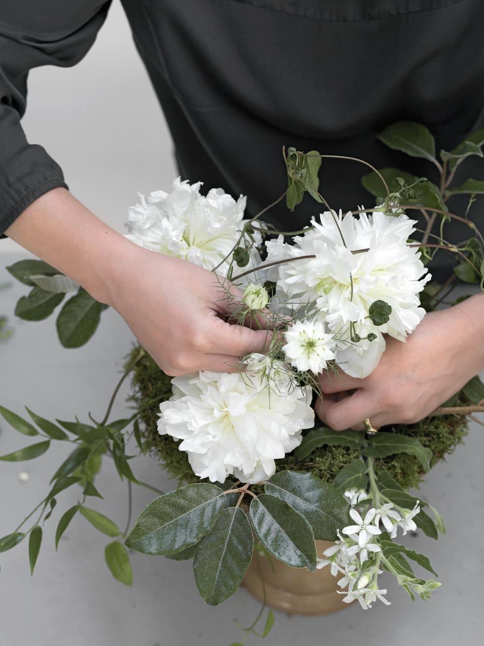 Anleitung Blumengesteck