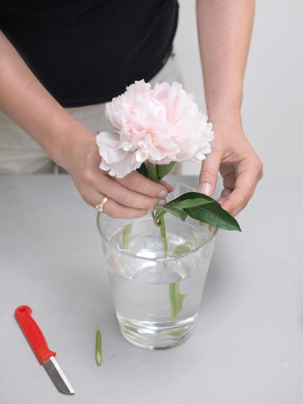 Anleitung Blumenstrauß Tischdeko selber machen
