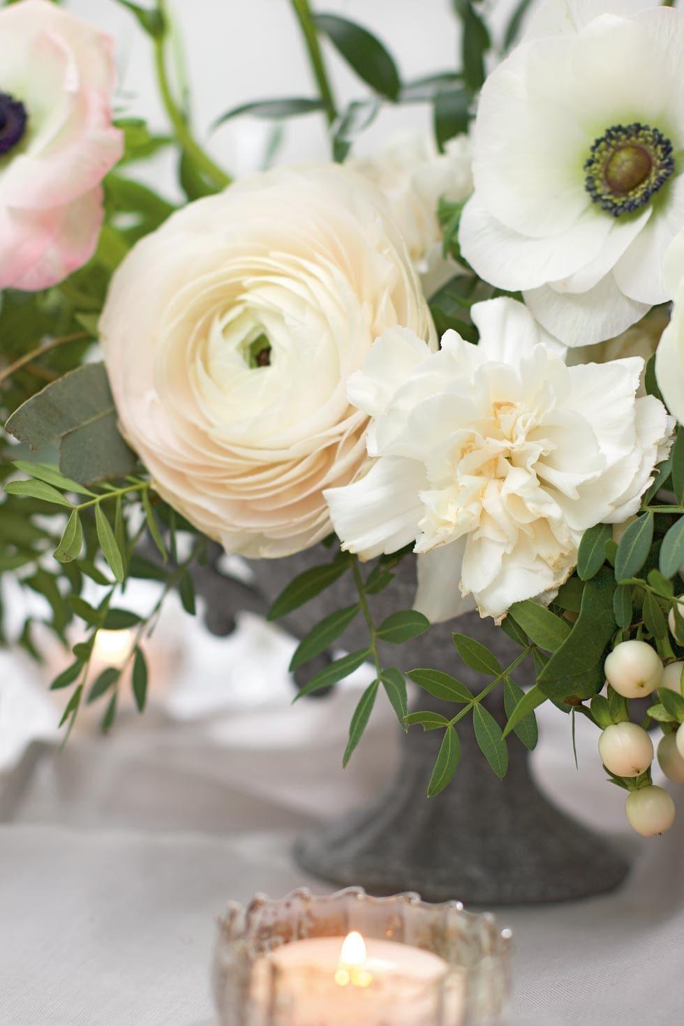 Tischdeko Blumengesteck Details