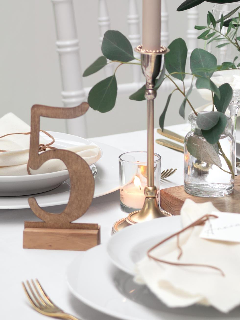 Tischdeko Tischnummer Boho