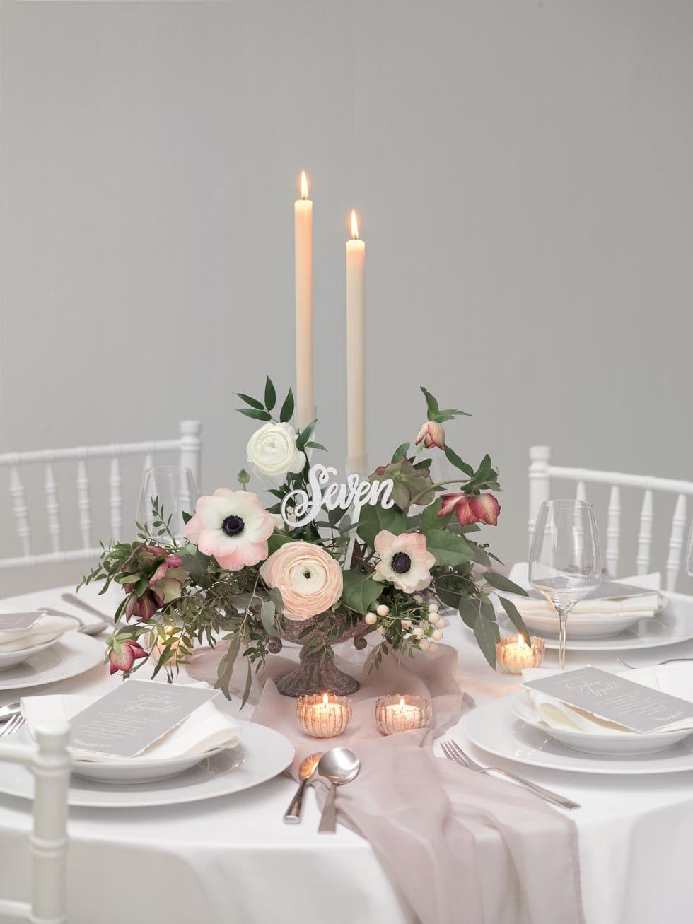 Tischdeko Hochzeit verspielt