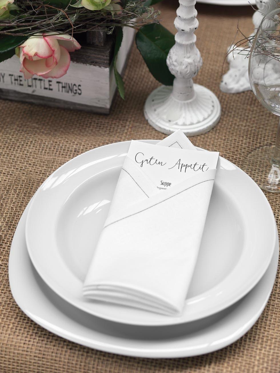 Hochzeitspapeterie Tischdeko Menükarte