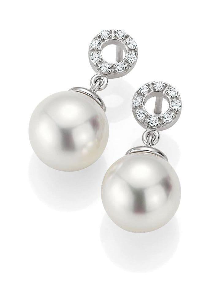 Ohrringe Brillanten Perlen