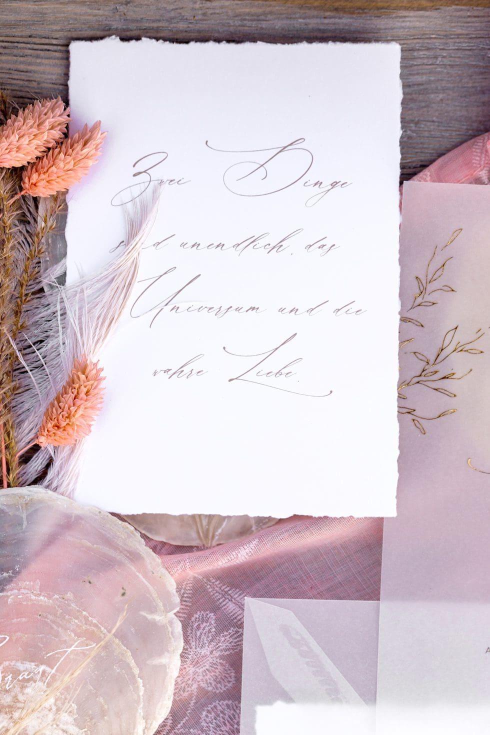 Hochzeitspapeterie Calligraphie
