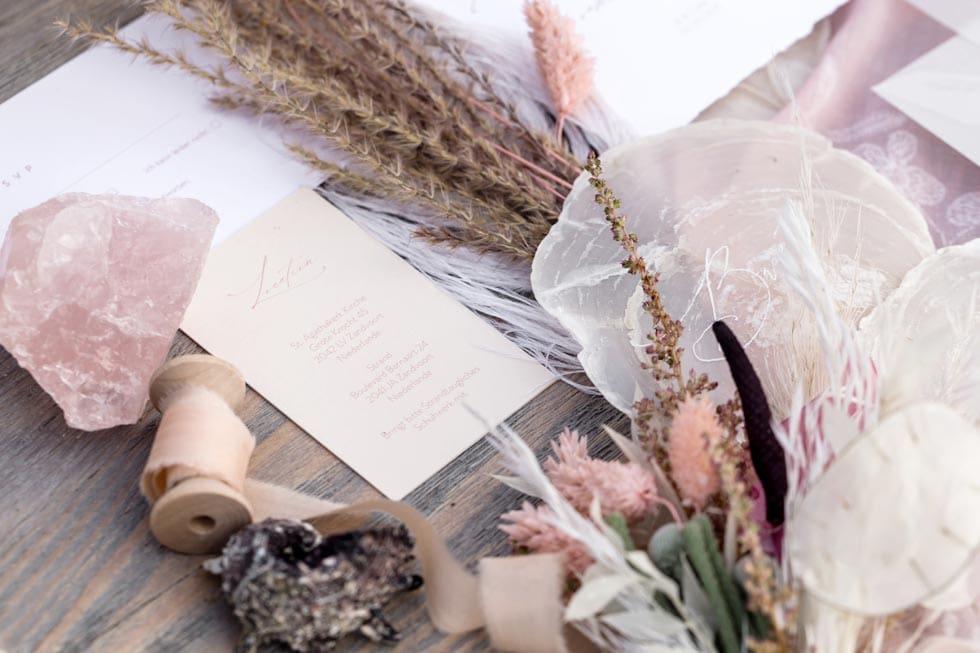 Hochzeitspapeterie rosa