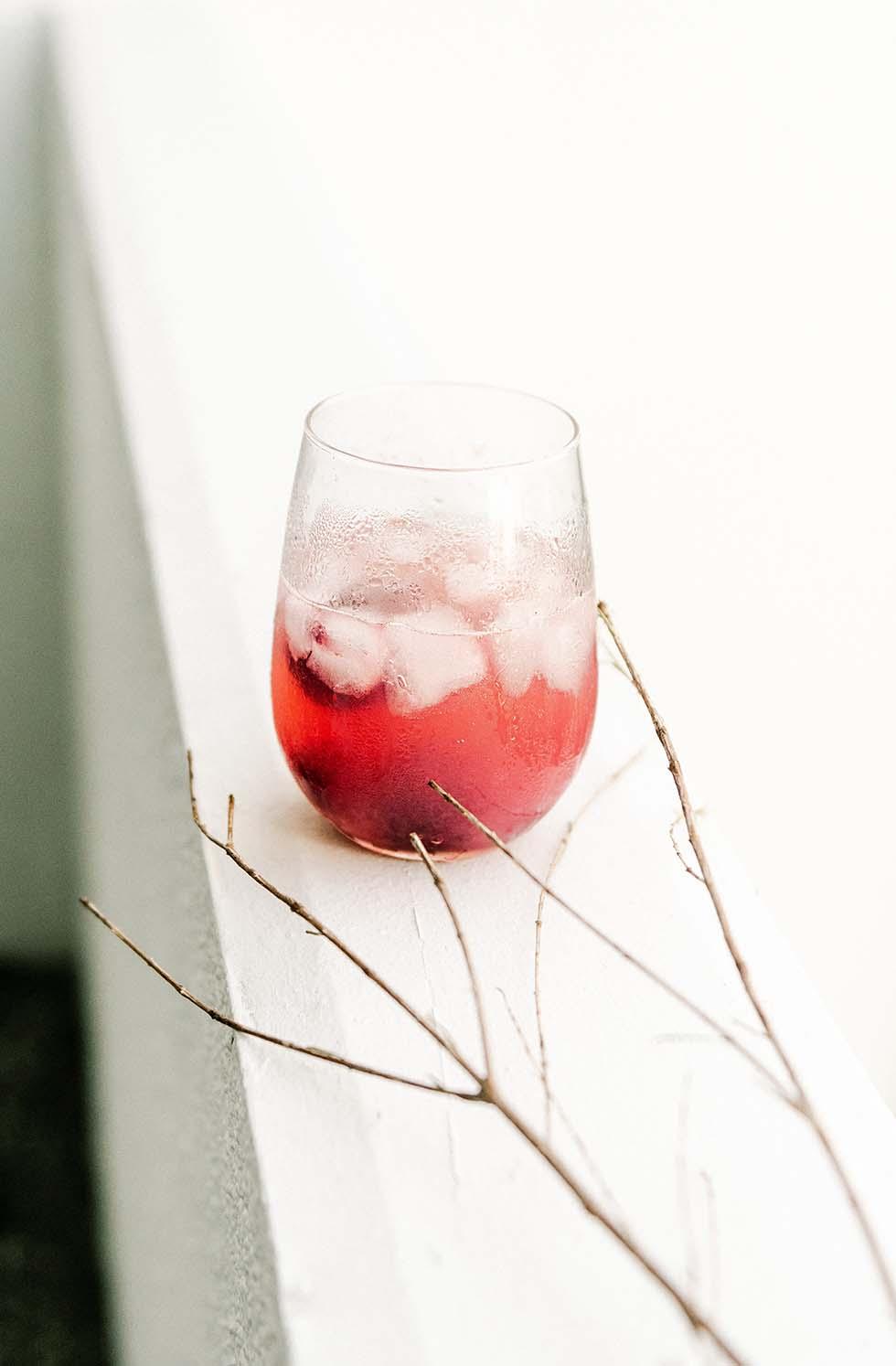 Cranberry Rosmarin Gin Cocktail