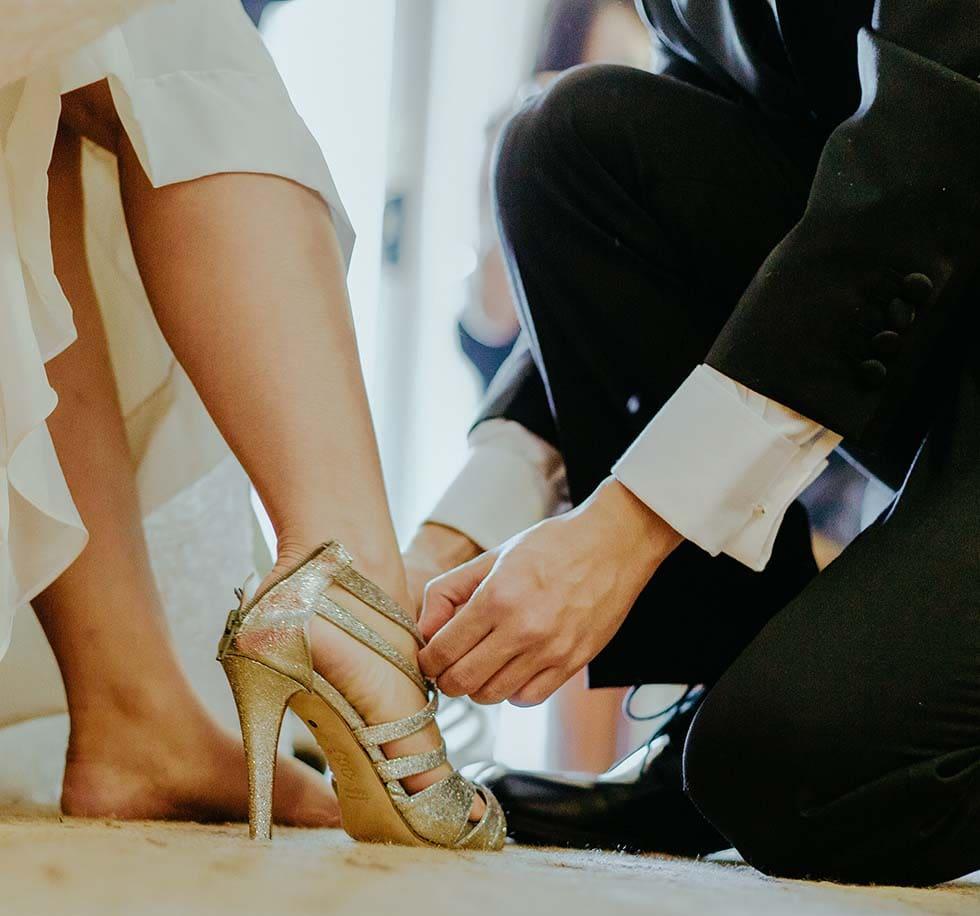 Brautschuhe extravagant