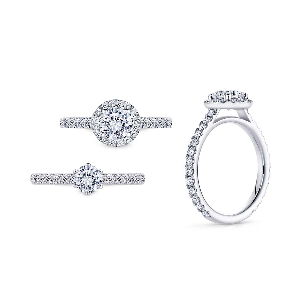 Halo-Ring Pave-Schiene