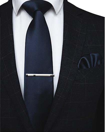Krawatte Einstecktuch Blau