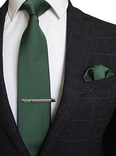 Krawatte Einstecktuch Grün