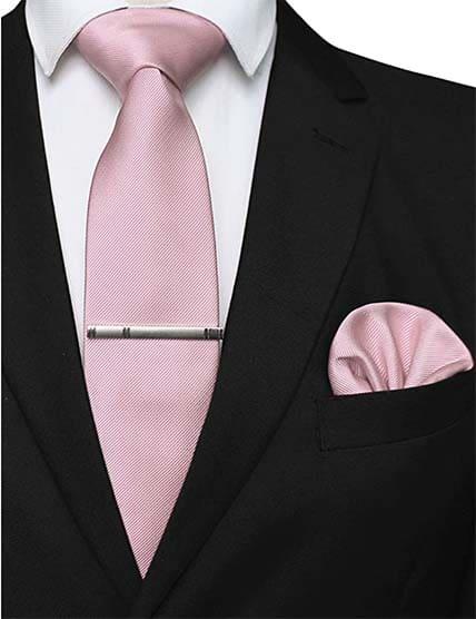 Krawatte Einstecktuch Rosa