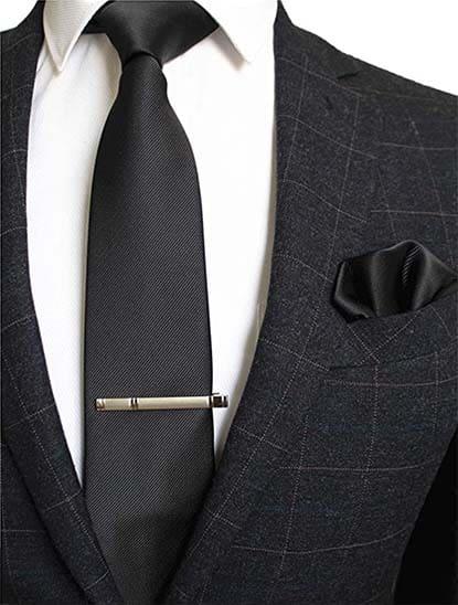 Krawatte Einstecktuch Schwarz