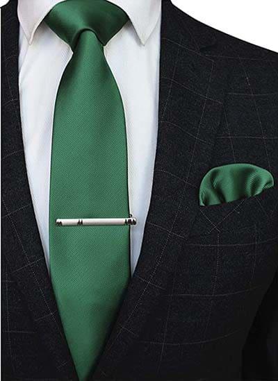 Krawatte Einstecktuch Smaragd