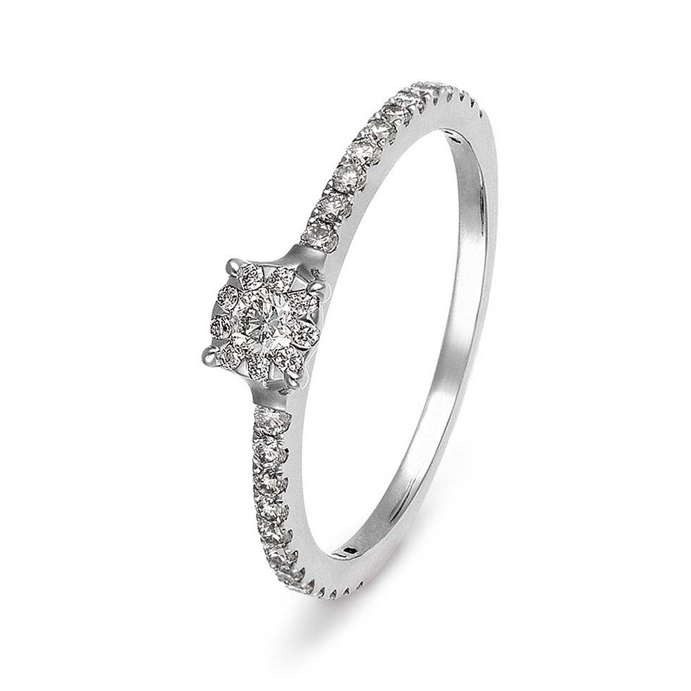 Verlobungsring Pave-Ring
