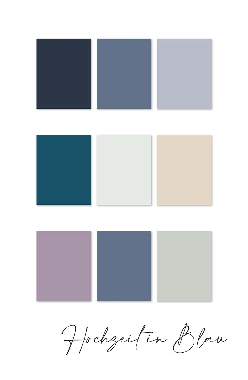 Farbkonzept Hochzeit Blau