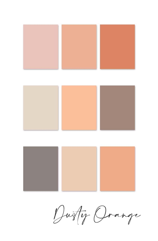Farbkonzept Hochzeit Dusty Orange