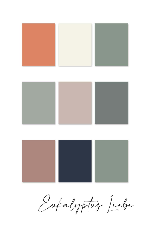 Farbkonzept Hochzeit Eukalyptus