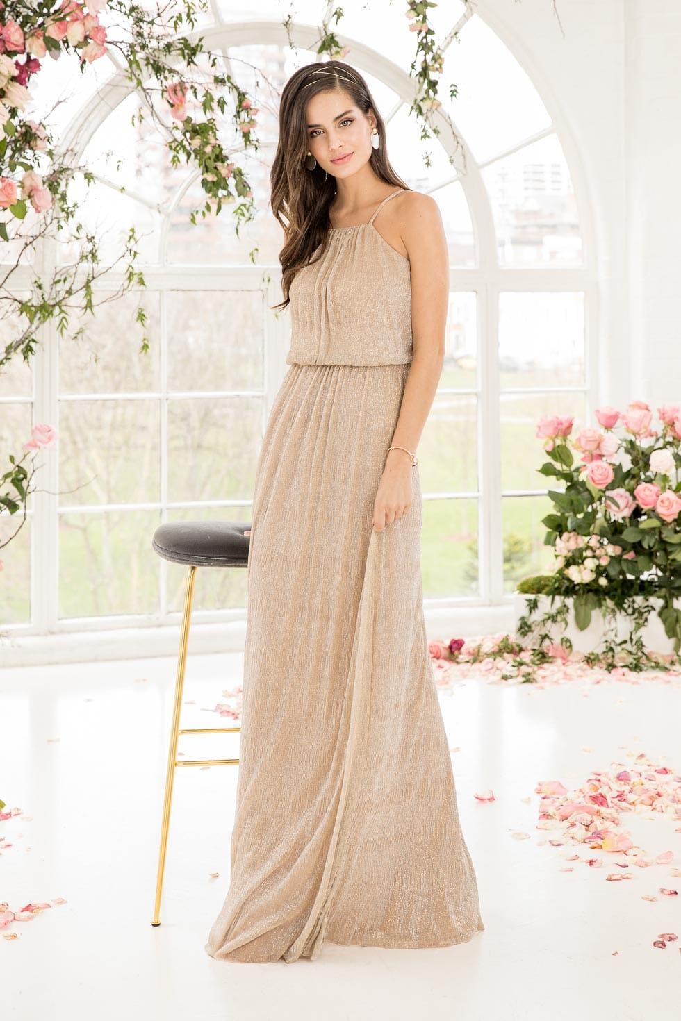 Brautjungfernkleid Beige