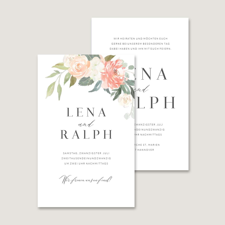 Hochzeitseinladung Blumen