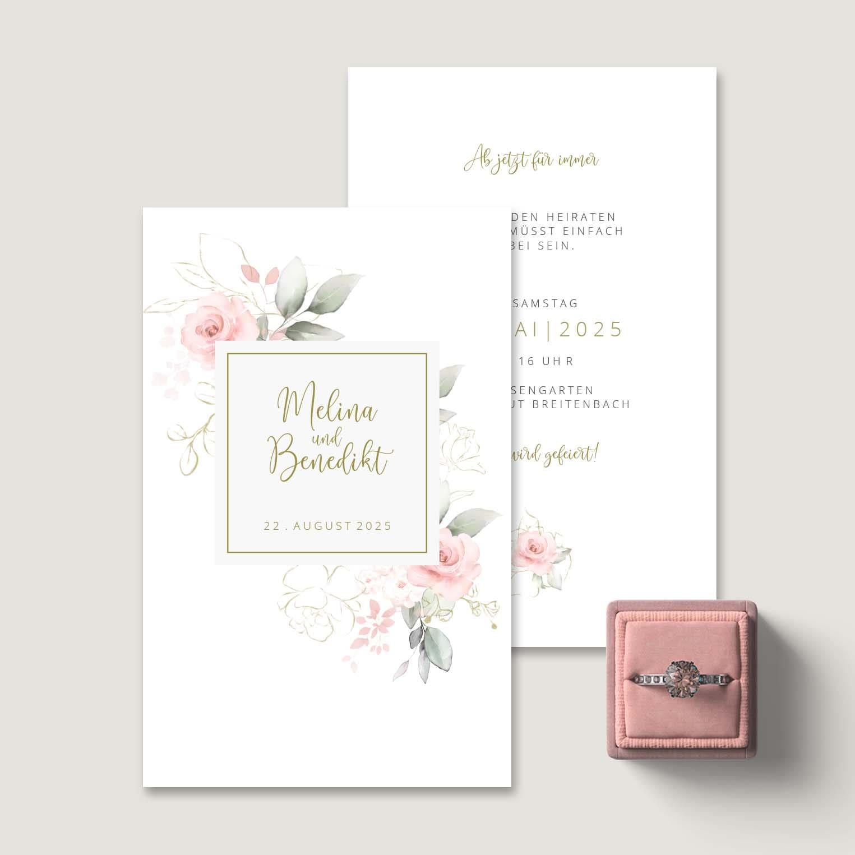 Einladung Hochzeit Rosen