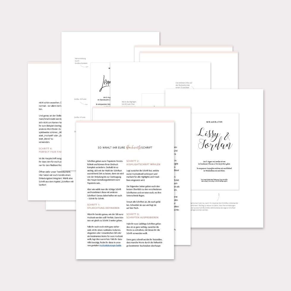 Schriften Hochzeit