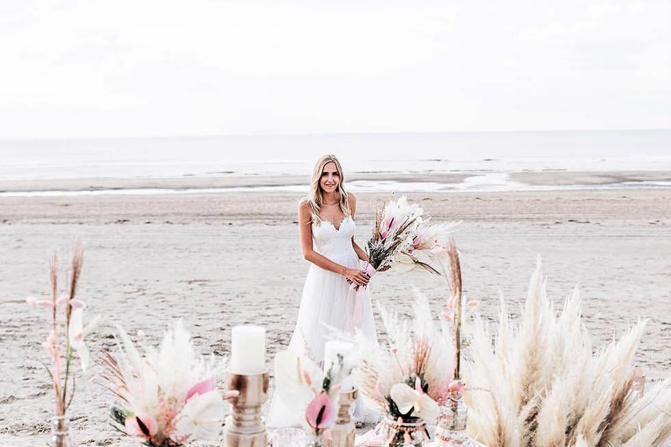 Braut Boho Strand