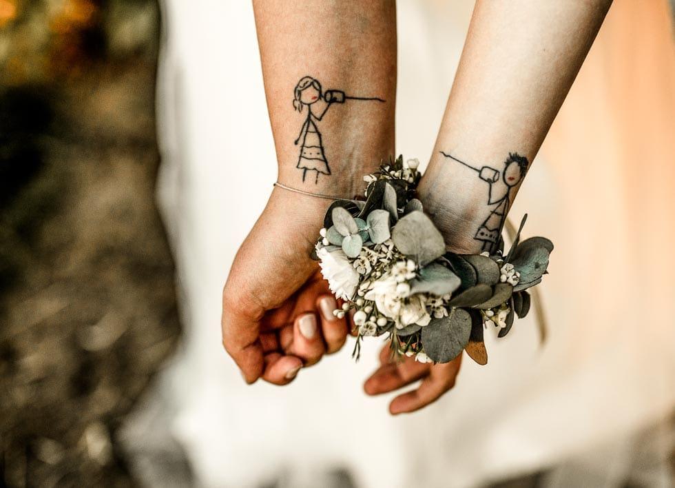 Armstrauß Brautjungfer