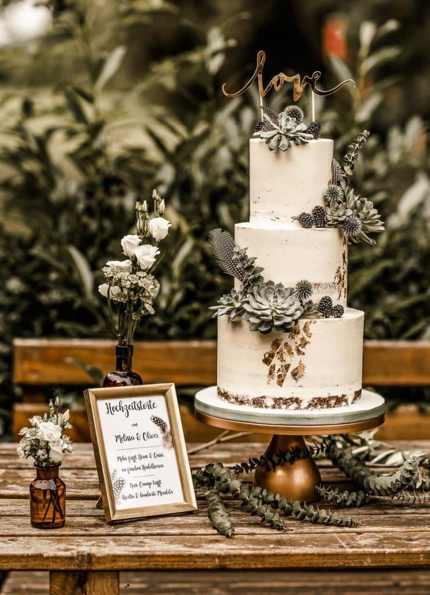 Hochzeitstorte Sukkulenten