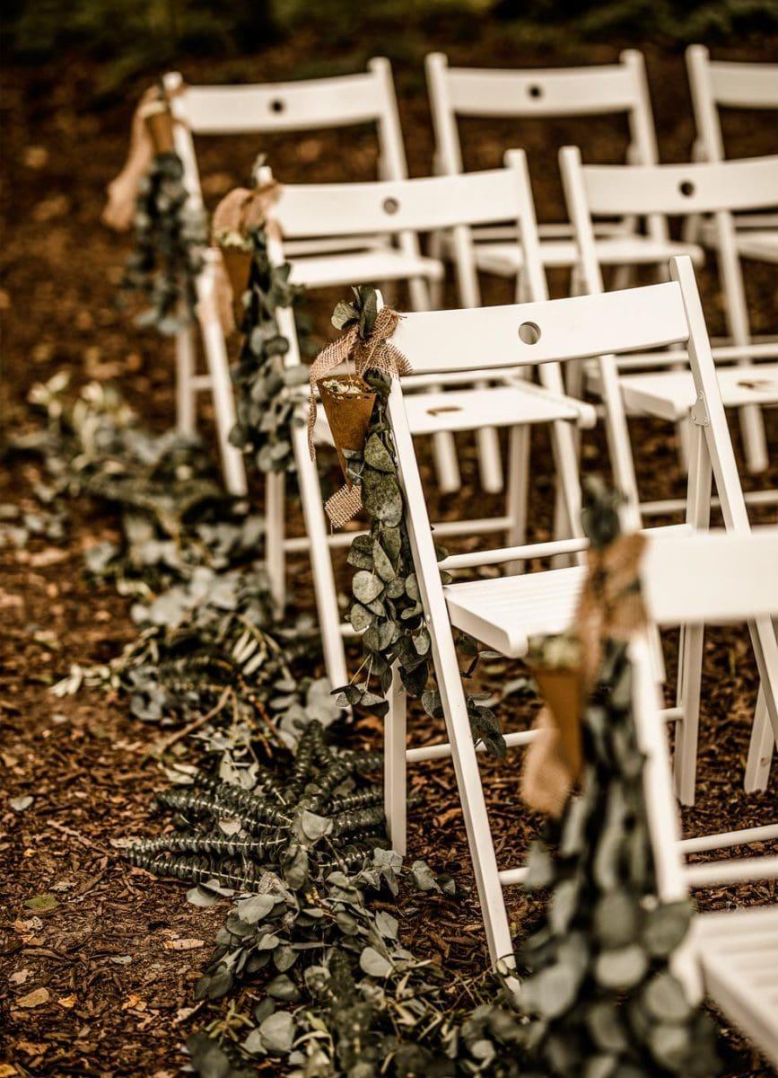 Boho Hochzeit Trauung Deko