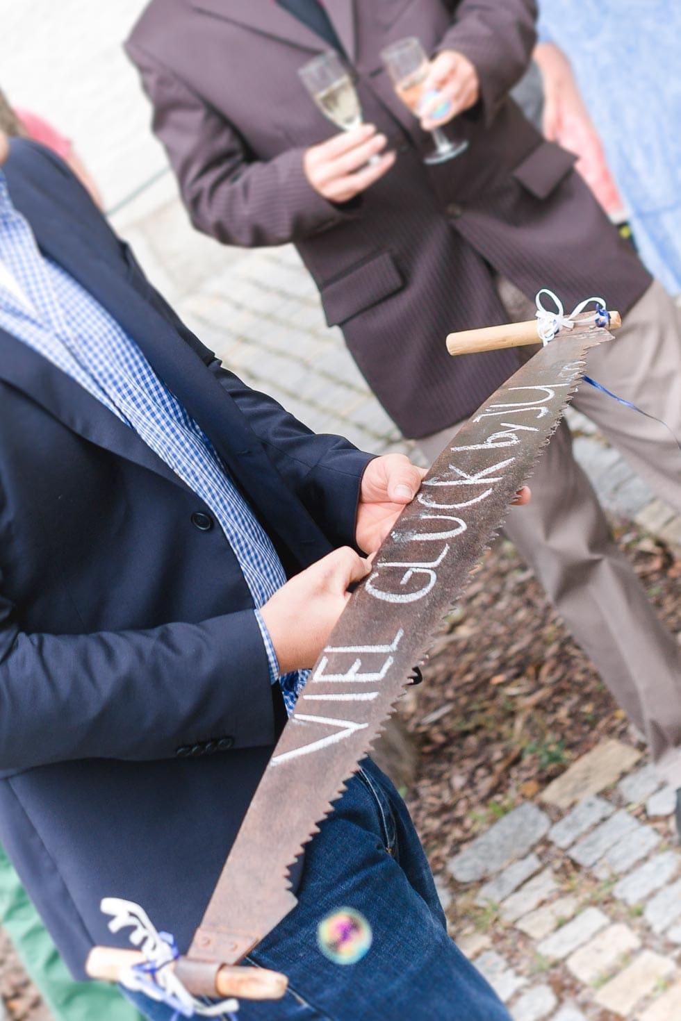 Säge Hochzeit