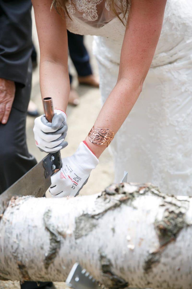 Baumstamm Sägen Hochzeit Material