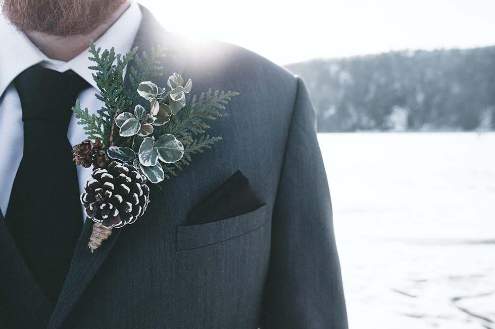 Bräutigam Anzug Winter
