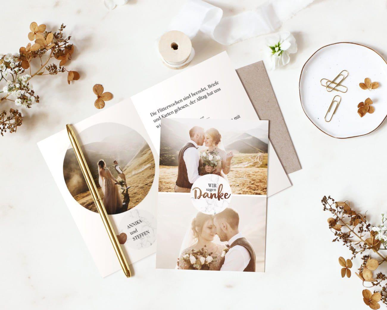 Danksagung Hochzeit Kartenparadies