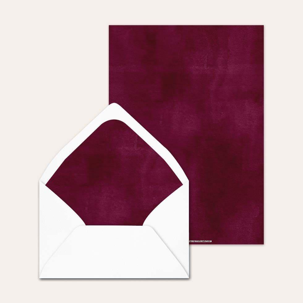 Accessoires Vorlage Briefumschlag