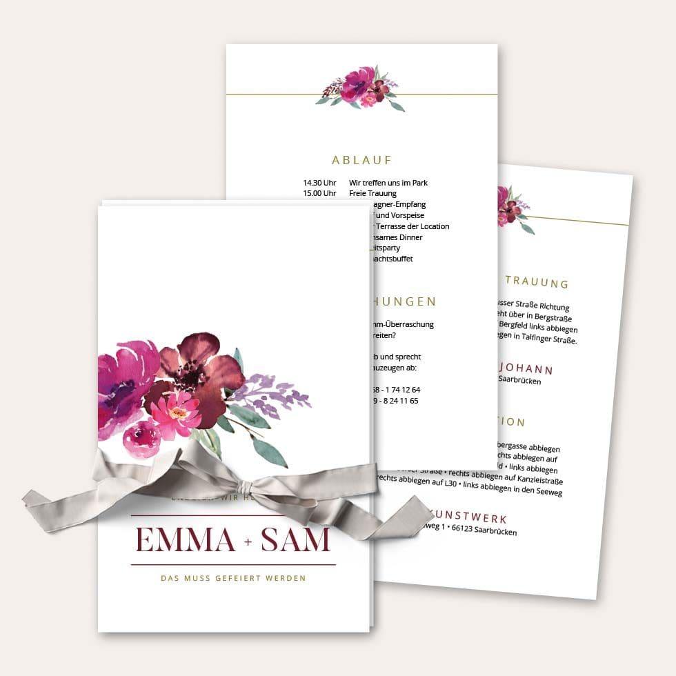 Einladung Vorlage Kartenset