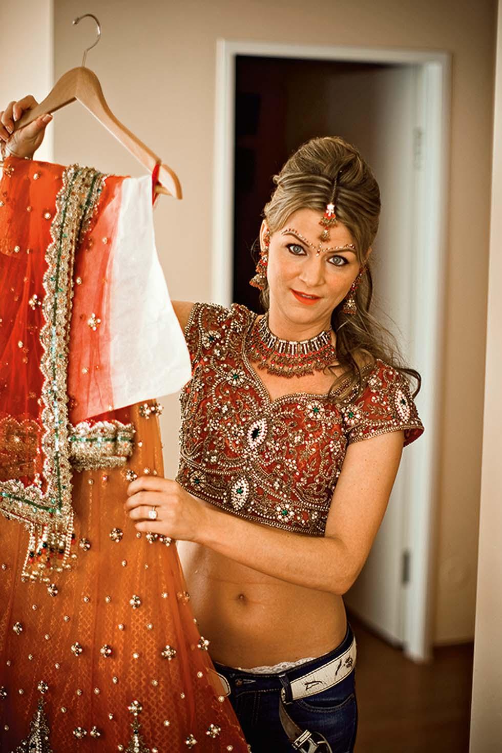 Indische Hochzeit Braut