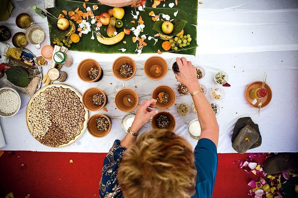 Indische Hochzeit Ritual Paalikai