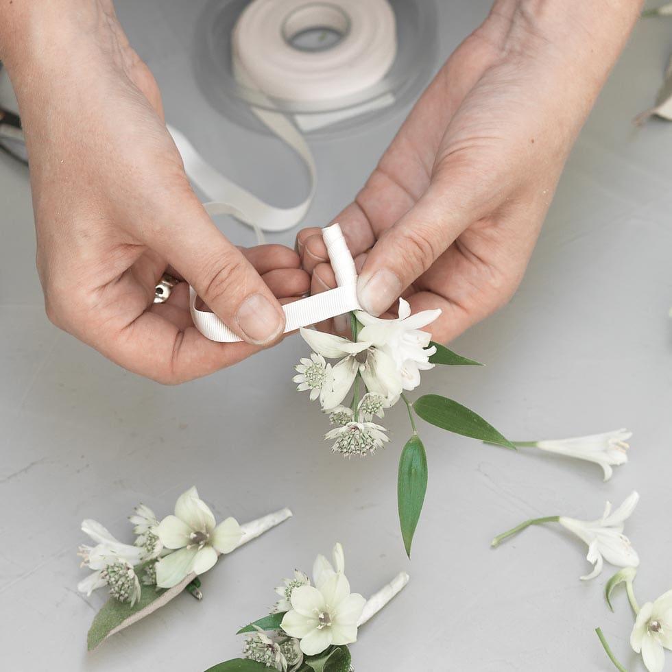Anstecker Hochzeit selber machen