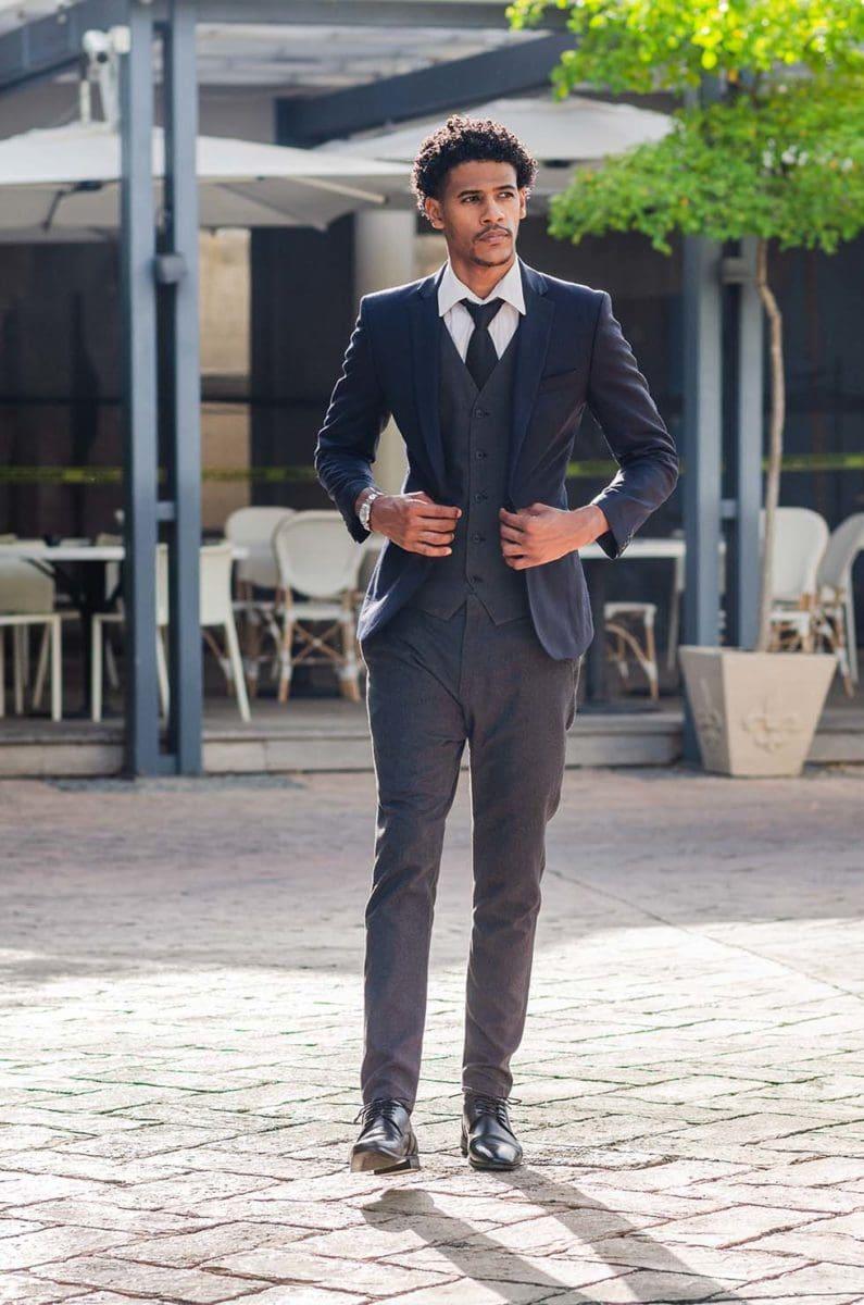 Anzug Hochzeit grau